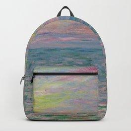 """Claude Monet """"Coucher de soleil à Pourville, pleine mer"""" Backpack"""