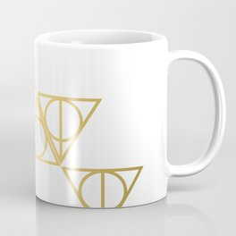 Deathly hallows golden pattern Coffee Mug