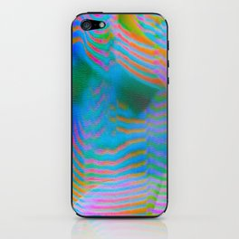 Analogue Glitch Electric Gradient Waves iPhone Skin