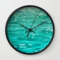 dave grohl Wall Clocks featuring SIMPLY SEA by Catspaws