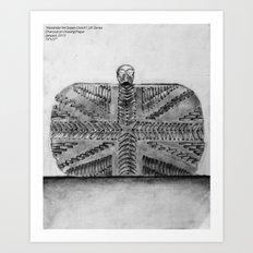 Alexander McQueen night clutch Art Print