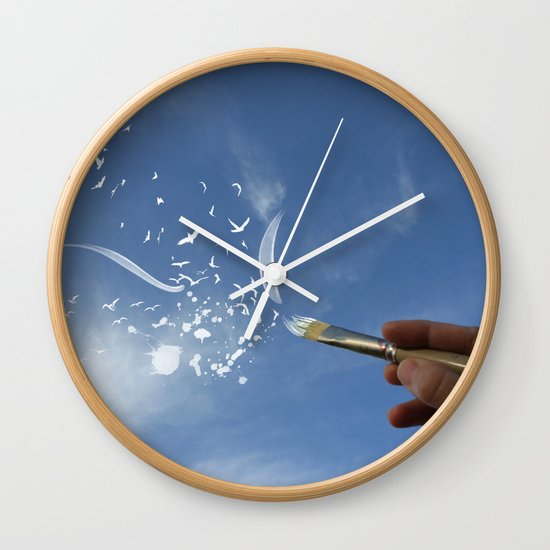Painted Sky Wall Clock