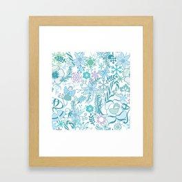 Bright xmas pattern Framed Art Print