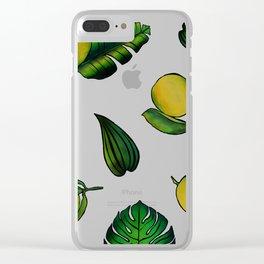 Tropical Lemons Clear iPhone Case