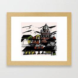 Cuzco - Peru cityview landscape Framed Art Print