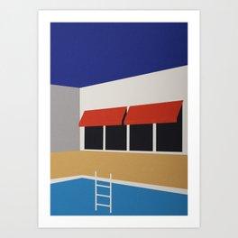 Palm Springs Pool House Art Print