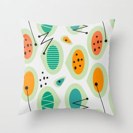 Mid-century abstraction Throw Pillow
