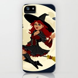Friendly halloween witch iPhone Case