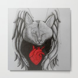 My Heart will Find Refuge in Your Wings Metal Print
