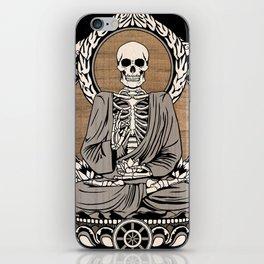 Starving Buddha - Wood Grain iPhone Skin
