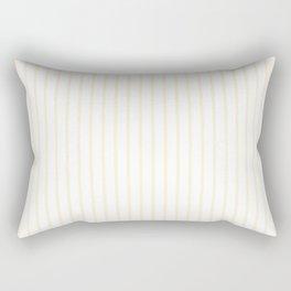 Gardenia Cream Pinstripe on White Rectangular Pillow