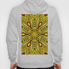 African ethnic Yellow  flower mandala Hoody