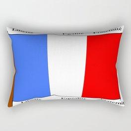 Flag of France III- France, Français,française, French,romantic,love,gastronomy Rectangular Pillow
