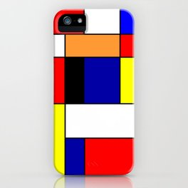 Mondrian #1 iPhone Case