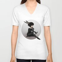 ruben V-neck T-shirts featuring Here Before by Ruben Ireland
