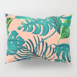 Summer Tropical Leaves Pillow Sham