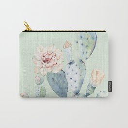 Prettiest Mint Cactus Rose Carry-All Pouch