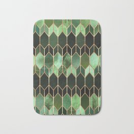 Stained Glass 5 - Forest Green Badematte