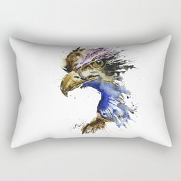 Golden Eagle - Colorful Watercolor Painting Rectangular Pillow