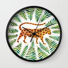 Jaguar – Green Leaves Wall Clock