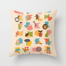 ABCs Ice-Cream Throw Pillow