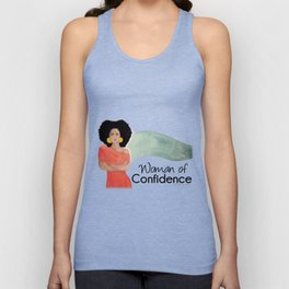 Woman of Confidence Unisex Tank Top