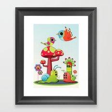 Critter Romance Framed Art Print