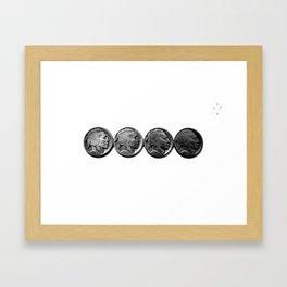 Buffalo Nickels Framed Art Print