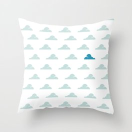 Cloudy Day Pattern 1 Throw Pillow