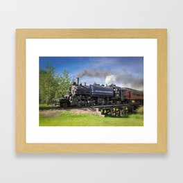 Full Steam Ahead Framed Art Print