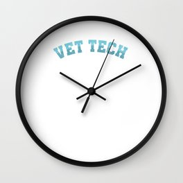 Vet Tech Awesome Veterinarians Veterinary Animal Lovers Gifts Wall Clock