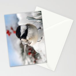 Christmas Chickadee Stationery Cards