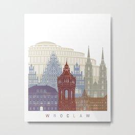 Wroclaw skyline poster Metal Print