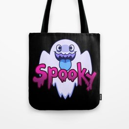 Spooky Ghost (Blue) Tote Bag