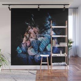 Aqua Gemstones Wall Mural