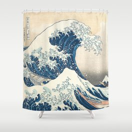 The Great Wave off Kanagawa by Katsushika Hokusai from the series Thirty-six Views of Mount Fuji Shower Curtain