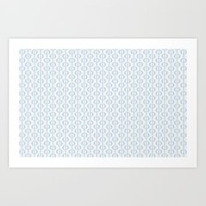 Retro Blue Art Print