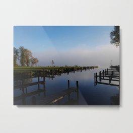 Harbour at Lake Chiemsee Metal Print