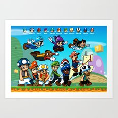 Super Mongoose Bros. Art Print