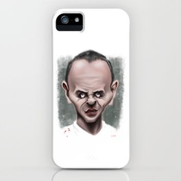 Anthony Hopkins / Hannibal Lecter - Caricature iPhone Case