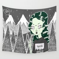 loll3 Wall Tapestries featuring ☽ ZELINA ☾ by lOll3