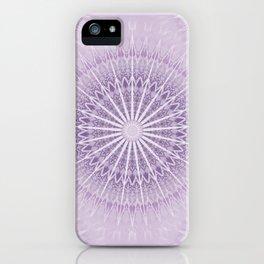 Lavender Geometric Mandala iPhone Case