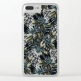 Hidden Creatures - Grey / Khaki Clear iPhone Case