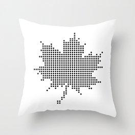 Maple Leaf BW Throw Pillow