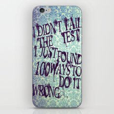 I Did Not Fail (ver. 2) iPhone & iPod Skin