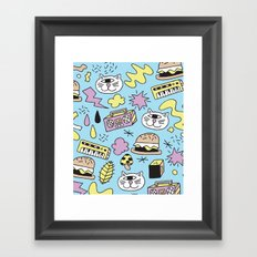 Cat Jams Framed Art Print