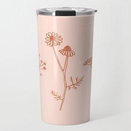 Wildflower Line Art Travel Mug