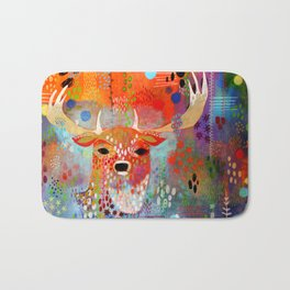 The Deer in the Thicket Bath Mat