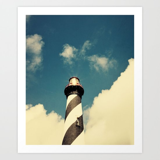 Lighthouse in the Sky Art Print