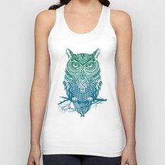 Warrior Owl Unisex Tank Top